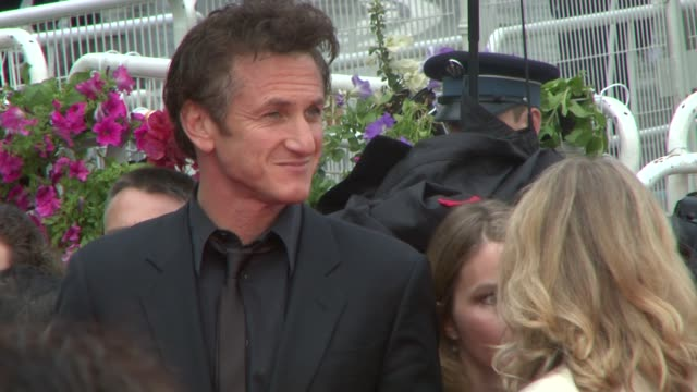 Bono and Sean Penn at the Cannes steps for Un Conte De Noel at the Grand Lumiere in Cannes on May 16 2008