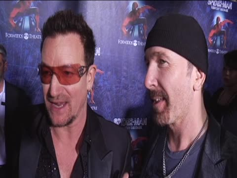 Bono and The Edge at the Broadway premiere of the Spiderman musical