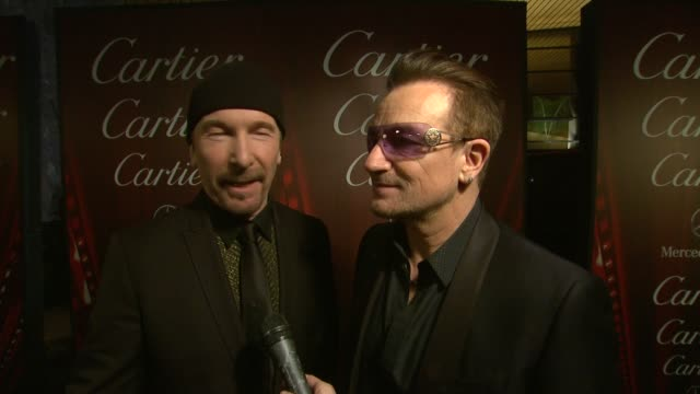 INTERVIEW Bono and The Edge on being honored at the 25th Annual Palm Springs International Film Festival Awards Gala Presented By Cartier in Palm...
