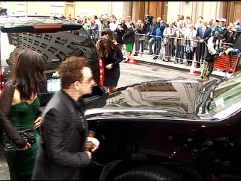 Bono arrives for the opening of 'Spiderman Turn Off The Dark' in Times Square in New York 06/14/11