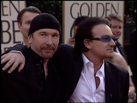 Bono at the 2003 Golden Globe Awards at the Beverly Hilton in Beverly Hills California on January 19 2003
