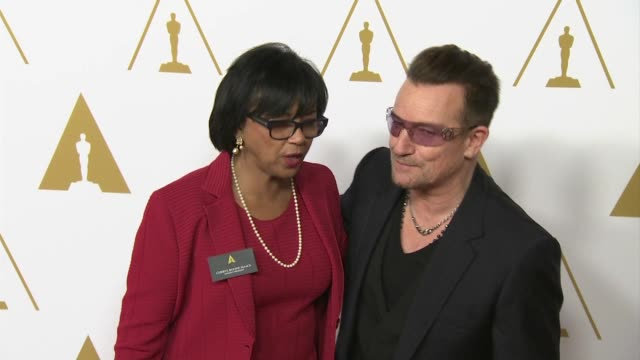 Bono at the 86th Academy Awards Nominee Luncheon Reception at The Beverly Hilton Hotel on in Beverly Hills California