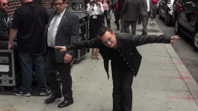 Bono at the 'Late Show with David Letterman' studio in New York NY on 9/26/13