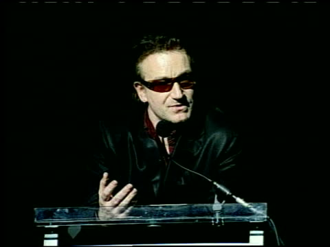 Bono at the Love Rocks at the Kodak Theatre in Hollywood California on February 14 2002