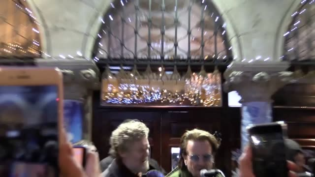 bono busks outside the gaiety theatre in dublin to raise money for the homeless. - gaiety theatre stock videos & royalty-free footage