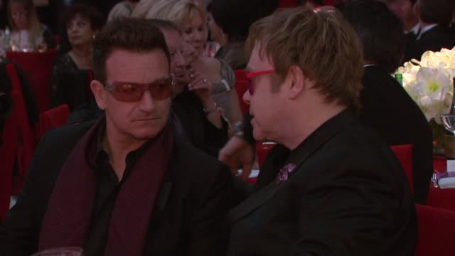 Bono Elton John at Elton John AIDS Foundation Presents 21st Annual Academy Awards Viewing Party Sponsored By Chopard Neuro Drinks And Wells Fargo on...