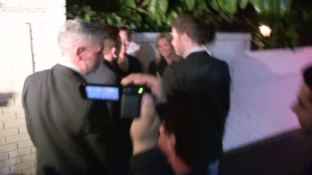 Bono meets fans at the 2014 Golden Globe After Party at Chateau Marmont in West Hollywood in Celebrity Sightings in Los Angeles