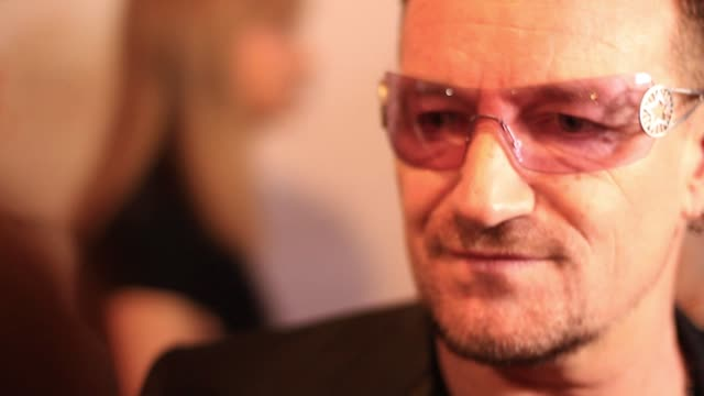 Bono on being at the festival on opening night at the 2011 Toronto International Film Festival 'From The Sky Down' Premiere at Toronto ON