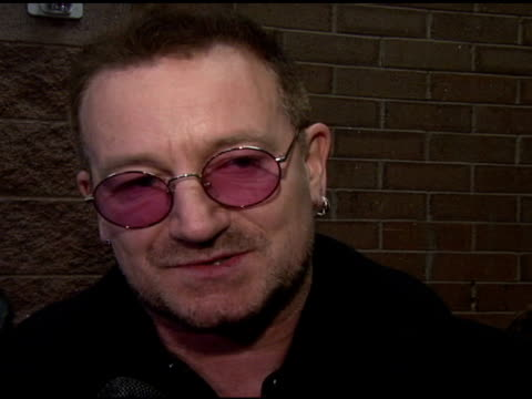 bono on being in the film and his 3d glasses at the 2008 sundance film festival 'u2 3d' premiere at null in park city utah on january 19 2008 - 3d glasses stock videos & royalty-free footage