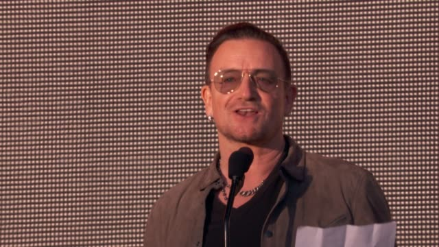SPEECH Bono on peace in Liberia at 2013 Global Citizen Festival in Central Park To End Extreme Poverty on in New York NY