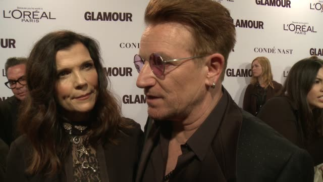 INTERVIEW Bono on the event at Glamour's 2016 Women of the Year at NeueHouse Hollywood on November 14 2016 in Los Angeles California
