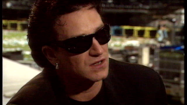 Bono speaking in 1993 about Zooropa concert tour and providing a good show for the expense paid by fans for tickets