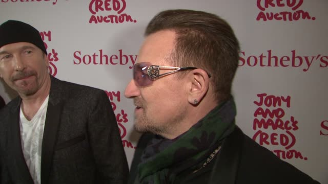 INTERVIEW – Bono speaks about designers how proud he is of helping this event about HIV/Aids and his hope for a new era and belief that he delivers...