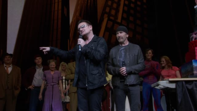 SPEECH Bono thanks the crowd and congratulates the performers on their 1000'th show at Bono And The Edge Celebrate The 1000th Performance of...