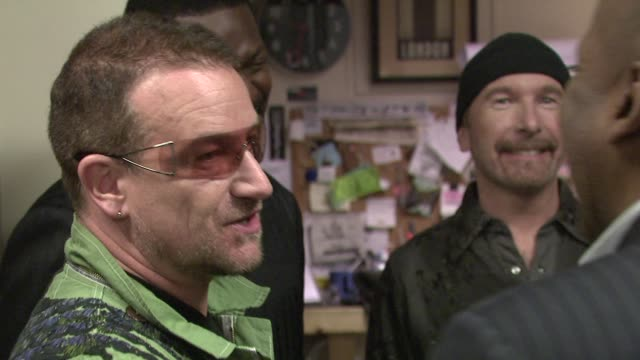 Bono The Edge at the Thelonious Monk Institute Honors BB King at Los Angeles CA