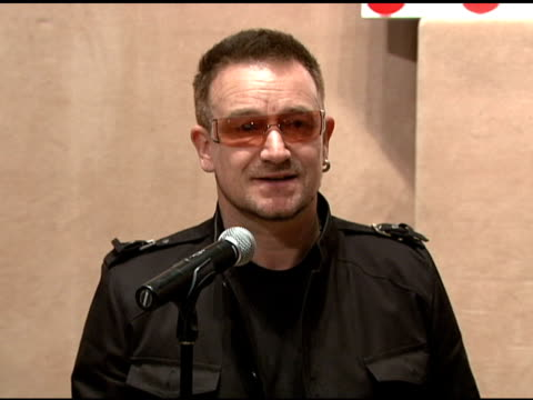 Bono's speech at the Bono and Damien Hirst Paint the Town Red For Aids In Africa The Auction at Sotheby's in New York New York on February 14 2008
