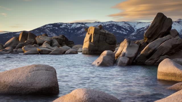 Bonsai Rock, Lake Tahoe in Winter - Time Lapse