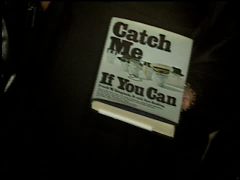 book cover at the 'catch me if you can' premiere on december 16, 2002. - book cover stock videos & royalty-free footage