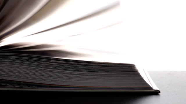 book flip slow motion. - textbook stock videos & royalty-free footage