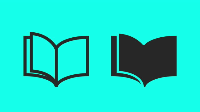 book - vector animate - book stock videos & royalty-free footage