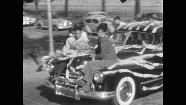 booker t. washington high school homecoming parade, greenwood, tulsa, oklahoma, usa - african american culture stock videos & royalty-free footage
