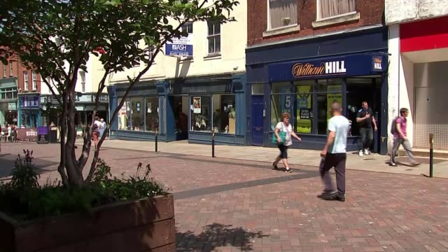 bookmaker william hill blames government crackdown on fixed odds betting terminals for job losses england gloucestershire gloucester ext various of... - roulette stock videos & royalty-free footage