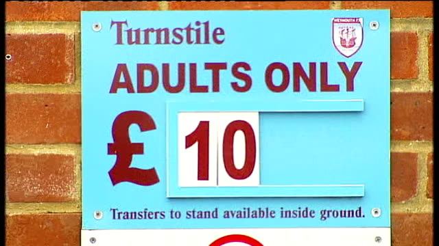 Bookmakers lose one million pounds over Weymouth FC betting frenzy ENGLAND Dorset Weymouth EXT General views of The Wessex Stadium including football...