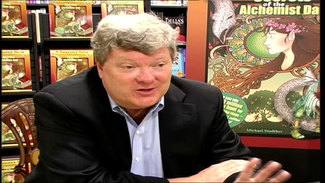 children's book promotion involves hidden treasure to be found michael stadther interview sot i don't say what's hidden how it's hidden where it's... - double chance stock videos & royalty-free footage