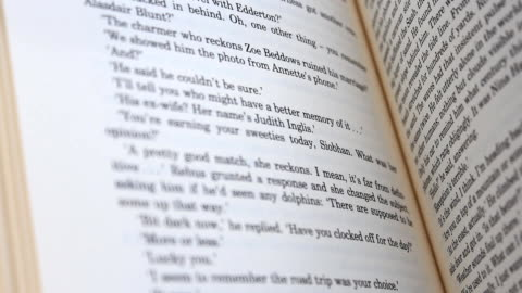 vídeos y material grabado en eventos de stock de libros flips - hoja