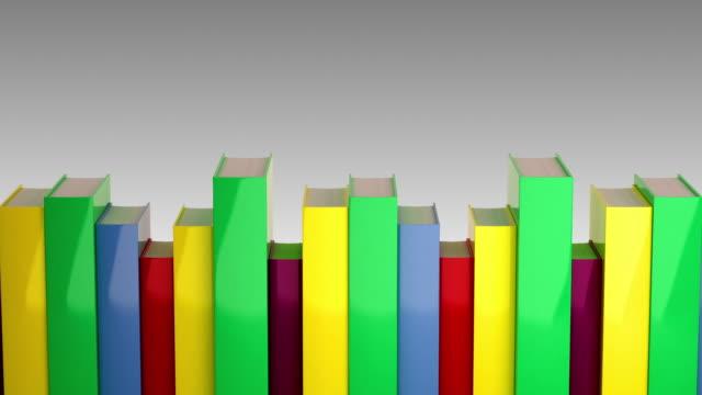 Bücher in einer Reihe auf. Endlos wiederholbar CG.
