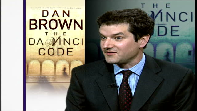 judge in da vinci code copyright case hides code in his ruling; england: london: gir: int dan tench interview sot - when i first spotted it i thought... - the da vinci code stock videos & royalty-free footage