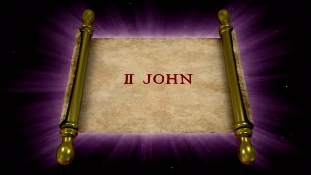 books of new testament - 2 john - new testament stock videos & royalty-free footage