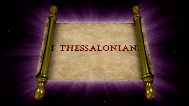books of new testament - 2 thessalonians - new testament stock videos & royalty-free footage