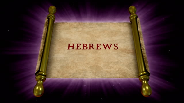 books of new testament - hebrews - new testament stock videos & royalty-free footage