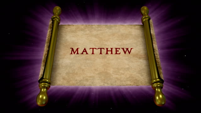 books of new testament - matthew - new testament stock videos & royalty-free footage