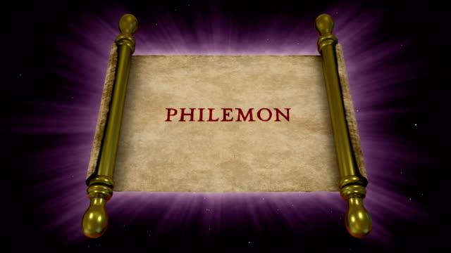 books of new testament - philemon - new testament stock videos & royalty-free footage