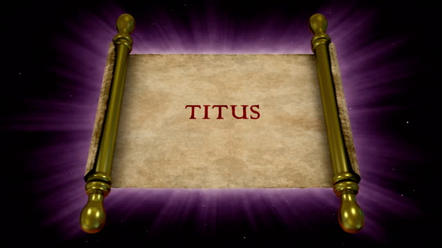 books of new testament - titus - new testament stock videos & royalty-free footage