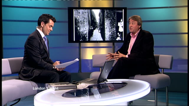 interview philip davies on 'lost london' book gir int philip davies interview continued sot talks of poverty in london - itv london tonight weekend stock videos & royalty-free footage