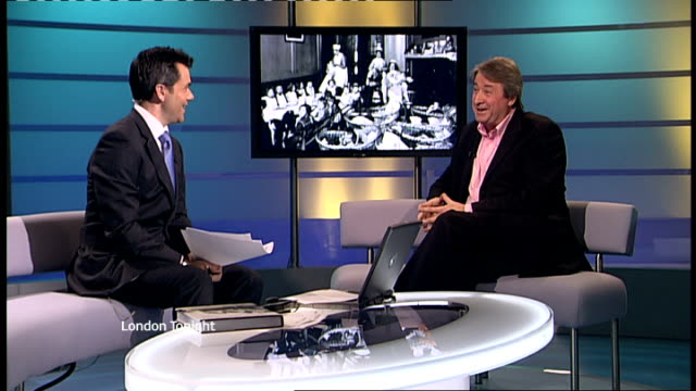 interview philip davies on 'lost london' book gir int philip davies interview continued sot talks of detail in pictures - itv london tonight weekend stock videos & royalty-free footage