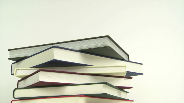 Books Piling Up And Down Stop-Motion