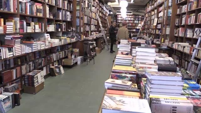 booksellers in the swedish capital discuss the impact of the lack of a 2018 nobel literature prize an event that traditionally provides a huge boost... - nobel prize in literature stock videos & royalty-free footage
