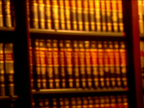 Bookshelf Filled W Books Single Column Two Shelves Of Tall Research Reference Law