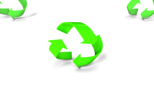 Boom down from a single revealing endless Recycle symbols