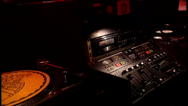 dj booth equipment in london - audio software stock videos & royalty-free footage