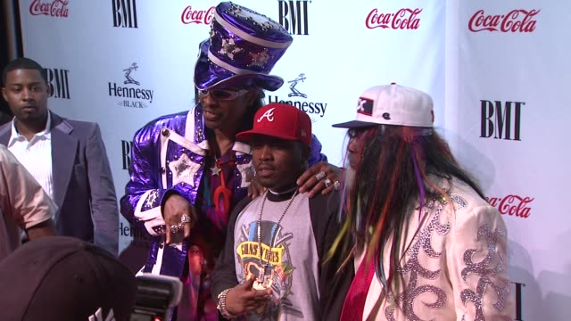bootsy collins, big boi and george clinton at the 9th annual bmi urban music awards at new york ny. - big boi stock videos & royalty-free footage
