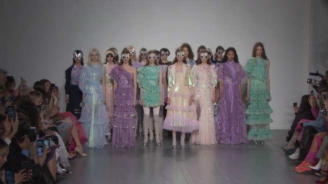 runway bora aksu at london fashion week february 2019 bora aksu on february 15 2019 in london united kingdom - french overseas territory stock videos & royalty-free footage