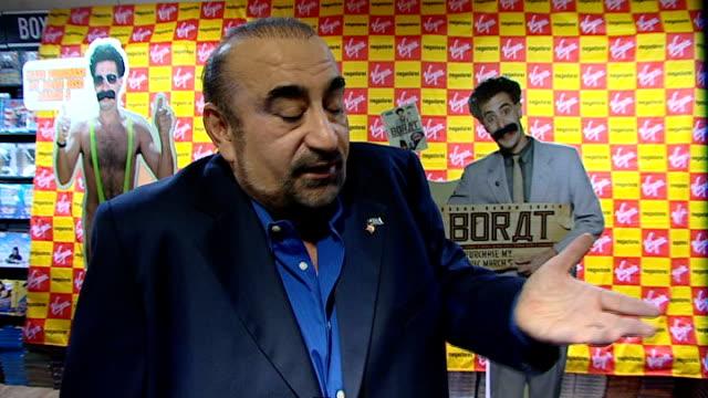 borat film huge hit in kazakhstan england london int ken davitian interview sot like the people of kazakhstan/ tourism has gone up since the film - borat sagdiyev stock-videos und b-roll-filmmaterial