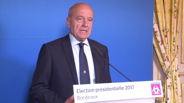 Bordeaux mayor and one time favorite to win the conservative primary Alain Juppe endorsed French centrist presidential candidate Emmanuel Macron...
