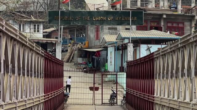 border between mizoram, india and myanmar - india politics stock videos & royalty-free footage