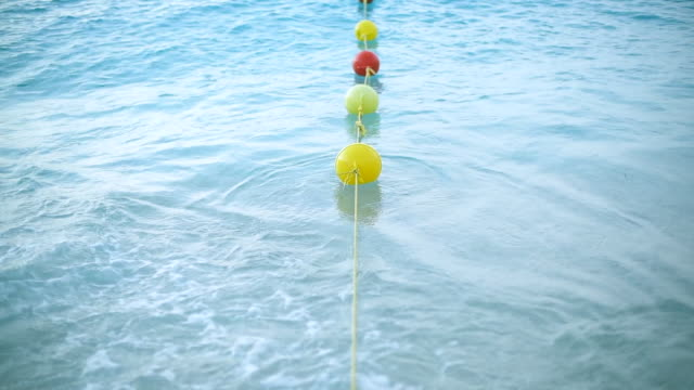 border floats for boat on the water. - buoy stock videos & royalty-free footage